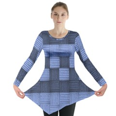Texture Structure Surface Basket Long Sleeve Tunic