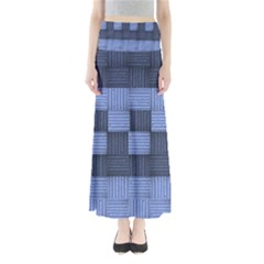 Texture Structure Surface Basket Maxi Skirts