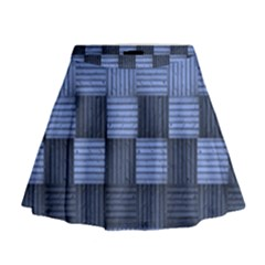 Texture Structure Surface Basket Mini Flare Skirt