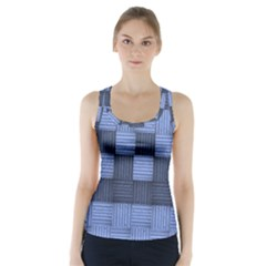 Texture Structure Surface Basket Racer Back Sports Top