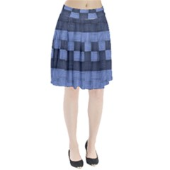 Texture Structure Surface Basket Pleated Skirt