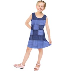 Texture Structure Surface Basket Kids  Tunic Dress