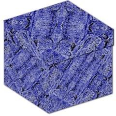 Texture Blue Neon Brick Diagonal Storage Stool 12