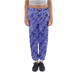 Texture Blue Neon Brick Diagonal Women s Jogger Sweatpants
