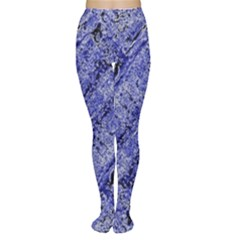 Texture Blue Neon Brick Diagonal Women s Tights