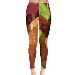 Umbrellas Parasols Design Rain Leggings