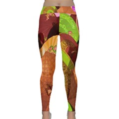 Umbrellas Parasols Design Rain Classic Yoga Leggings