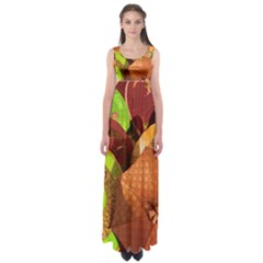 Umbrellas Parasols Design Rain Empire Waist Maxi Dress