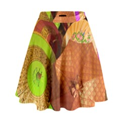 Umbrellas Parasols Design Rain High Waist Skirt