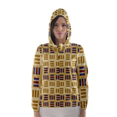 Textile Texture Fabric Material Hooded Wind Breaker (women)