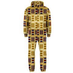 Textile Texture Fabric Material Hooded Jumpsuit (men)