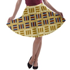 Textile Texture Fabric Material A Line Skater Skirt