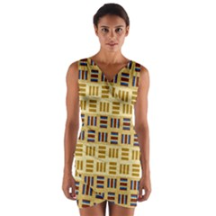 Textile Texture Fabric Material Wrap Front Bodycon Dress