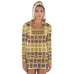 Textile Texture Fabric Material Women s Long Sleeve Hooded T Shirt