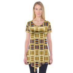 Textile Texture Fabric Material Short Sleeve Tunic