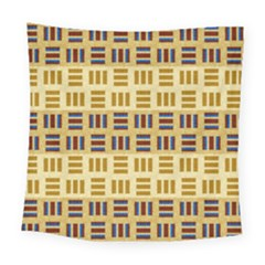 Textile Texture Fabric Material Square Tapestry (large)