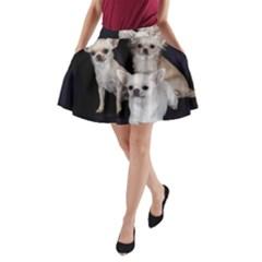 3 Chihuahuas A-Line Pocket Skirt