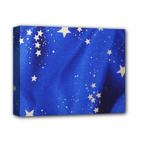 The Substance Blue Fabric Stars Deluxe Canvas 14  X 11