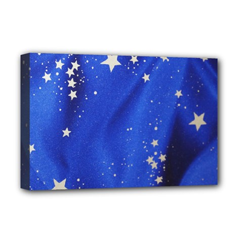 The Substance Blue Fabric Stars Deluxe Canvas 18  X 12