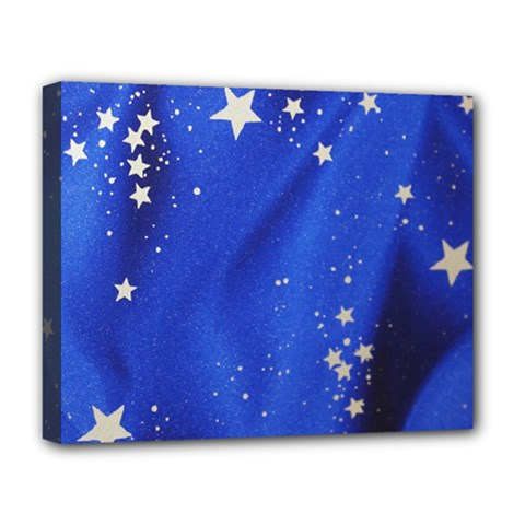 The Substance Blue Fabric Stars Deluxe Canvas 20  X 16