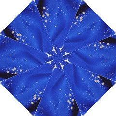 The Substance Blue Fabric Stars Hook Handle Umbrellas (small)