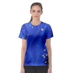 The Substance Blue Fabric Stars Women s Sport Mesh Tee