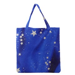 The Substance Blue Fabric Stars Grocery Tote Bag