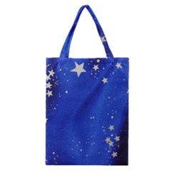 The Substance Blue Fabric Stars Classic Tote Bag