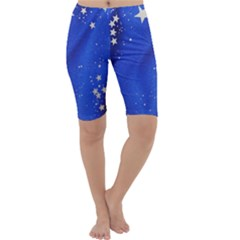 The Substance Blue Fabric Stars Cropped Leggings