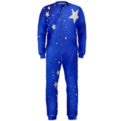 The Substance Blue Fabric Stars Onepiece Jumpsuit (men)