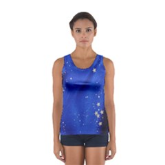 The Substance Blue Fabric Stars Women s Sport Tank Top