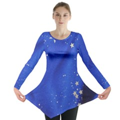 The Substance Blue Fabric Stars Long Sleeve Tunic