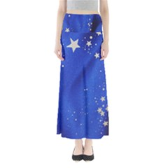 The Substance Blue Fabric Stars Maxi Skirts