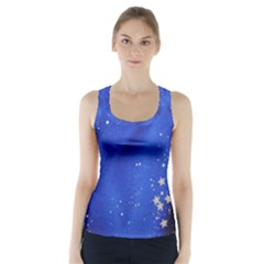 The Substance Blue Fabric Stars Racer Back Sports Top