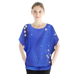 The Substance Blue Fabric Stars Blouse