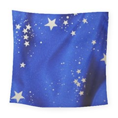 The Substance Blue Fabric Stars Square Tapestry (large)