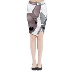 Chihuahua Art Midi Wrap Pencil Skirt