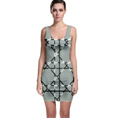 Texture Backgrounds Pictures Detail Sleeveless Bodycon Dress
