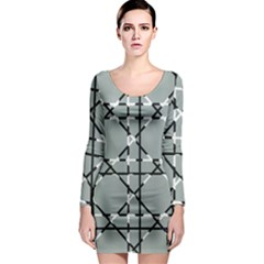 Texture Backgrounds Pictures Detail Long Sleeve Bodycon Dress