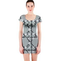 Texture Backgrounds Pictures Detail Short Sleeve Bodycon Dress