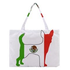 Chihuahua Mexico Flag Silhouette Medium Tote Bag