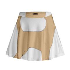 Chihuahua Silo Color Mini Flare Skirt