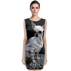 Chihuahua Sitting Classic Sleeveless Midi Dress