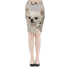 Chihuahua Midi Wrap Pencil Skirt
