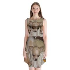 Chihuahua Puppy Sleeveless Chiffon Dress