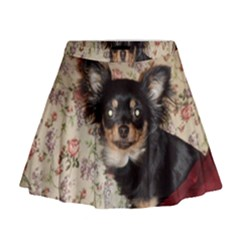 Long Haired Chihuahua In Bed Mini Flare Skirt