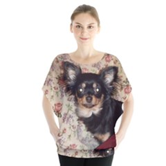 Long Haired Chihuahua In Bed Blouse