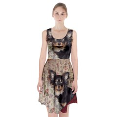 Long Haired Chihuahua In Bed Racerback Midi Dress