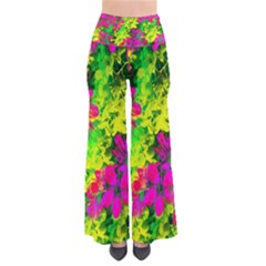 Flowers Chaos In Green, Yellow And Pinks Pants