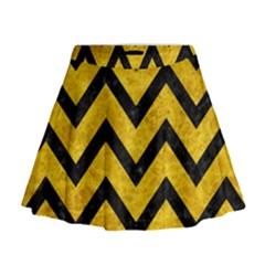 CHV9 BK-YL MARBLE (R) Mini Flare Skirt